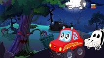 Little red car and the scary tree in a Halloween special scary nursery rhyme by Kids Channel