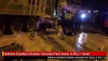 Ankara-İstanbul Otoban Yolunda Feci Kaza: 4 Ölü, 1 Yaralı