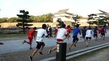 Les futurs champions olympiques s'entrainent au chateau d'Osaka