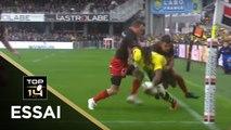 TOP 14 - Essai Alivereti RAKA 1 (ASM) - Clermont - Lyon - J10 - Saison 2017/2018