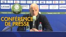 Conférence de presse FC Sochaux-Montbéliard - Nîmes Olympique (2-1) : Peter ZEIDLER (FCSM) - Bernard BLAQUART (NIMES) - 2017/2018