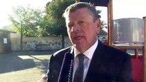 Le maire de Fos sur mer René Raimondi au micro d'Ulrich Téchené