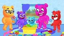 Mega Gummy Bear new toy surprise eggs finger family rhymes for children! Gummy bear funny toys