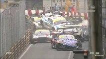 Quand 10 voitures GT se rentrent dedans en pleine course à Macau... Dingue