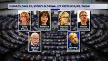 Rezulucja PE przeciwko Polsce - PO jak współczesna Targowica