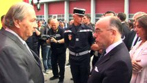 Bernard Cazeneuve s'entretient avec Jean-Pierre Leroy le directeur de Loyndell Berre