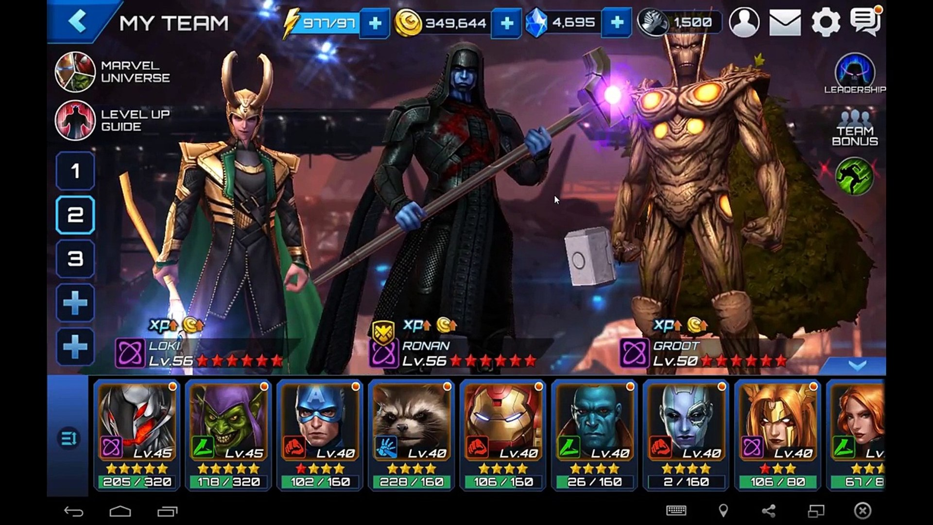Marvel Future Fight: Groot (Throot) 6 Star In-Depth Review