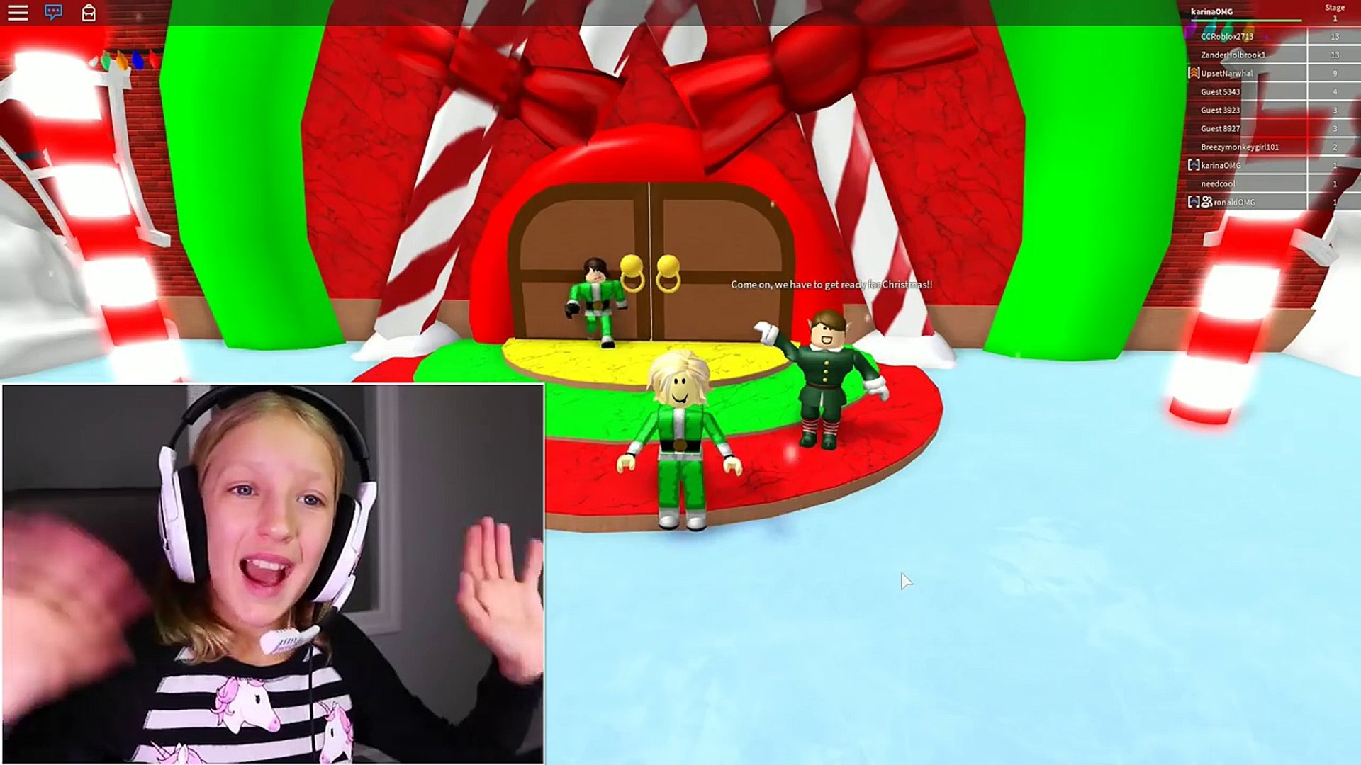 Escape Santas Workshop Obby Escaping With Ronaldomg Video