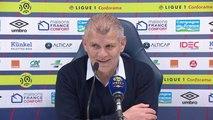 Conférence de presse Patrice Garande après Caen / Nice