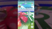 Pokémon GO Gym Battles 3 Gyms Hitmontop Togepi Scizor Bellossom Qwilfish Furret Ursaring & more