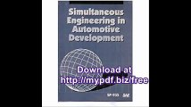 Simultaneous Engineering in Automotive Development (S P (Society of Automotive Engineers))