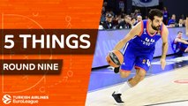 Turkish Airlines EuroLeague, Regular Season Round 9: 5 Things to Know