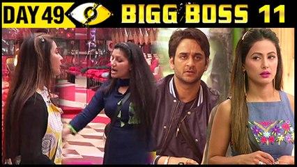 Hina VS Vikas, Shilpa & Sapna UGLY FIGHT  Bigg Boss 11 - Day 49  20 November 2017 Episode Update