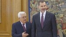 Mahmud Abás abre su visita a España con un encuentro con Felipe VI