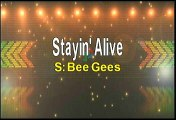 Bee Gees Staying Alive Karaoke Version