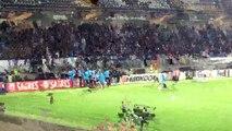 Patrice Evra pris à partie par des supporters olympiens a perdu son sang-froid à Guimarães