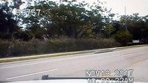 Florida plane crash caught on police dashcam video