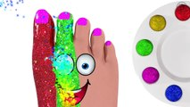 Foot Painting for Kids - COLORS 3D Baby Paint Toys - IAL Glitter Toy by BillionSurpriseToys - YouTub