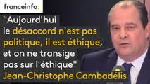 """Gérard Filoche est """"indéfendable"""" pour Jean-Christophe Cambadélis : """"Aujourd'hui le désaccord n'est pas politique, il est éthique, et on ne transige pas sur l'éthique."""""""