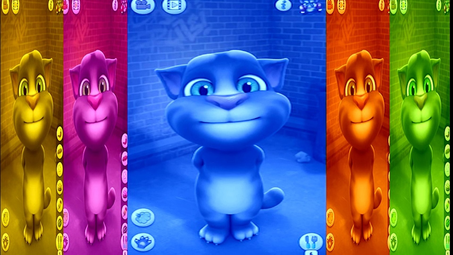 ✿ Baby Learn Colors with My Talking Tom Colours for Kids Animation Education Cartoon videos For Kids