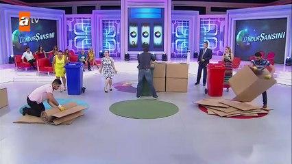 Döndür Şansını 19 Bölüm - Çöp Kovası Oyununu Hangi Çift Kazandı