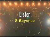 Beyonce Listen Karaoke Version
