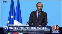 """Edouard Philippe aux maires : """"Nous appris pris la décision de na pas baisser les dotations"""""""