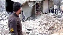 Air strikes kill dozens in Syria's besieged Eastern Ghouta
