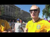 Swedish fans in Kiev get behind France ahead of England game