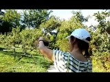 Cici Easter Shi and Bobby playing My Little Apple dance cover, UBC, Vancouver urban farm, BC, Canada, Cece Easter Xi Xie