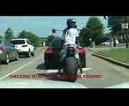 BURNOUT IN FRONT OF COPS!! CRAZY GUY ON GSXR 1000 STREET BIKE