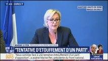 """""""Nous déposerons plainte contre la Société Générale et la HSBC"""" dit Marine Le Pen"""
