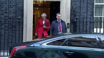 Theresa May departs Downing Street ahead of budget speech