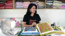 Aula em vídeo de almofada em patchwork As flexas. Quilted patchwork pillow. Make a quilted pillow