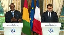 Déclaration du Président de la République Emmanuel Macron avec le Président de la République de Guinée, Alpha Condé