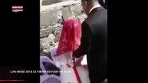 Un marié gifle sa femme en plein mariage (Vidéo)
