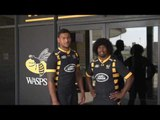 Nathan Hughes and Ashley Johnson have a message for Wasps fans