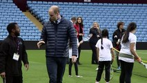 Prince William stepped out on pitch at Aston Villa
