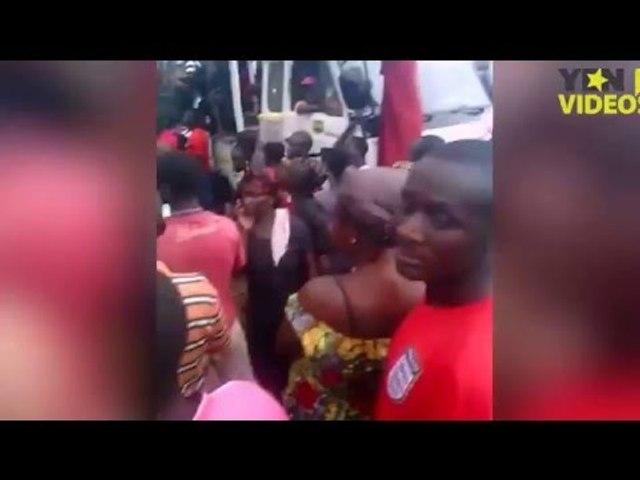 Agogo residents protesting actions of Fulani herdsmen