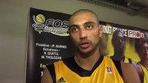 Karim ATAMNA après le match Fos Ouest Provence Basket - Aix-Maurienne
