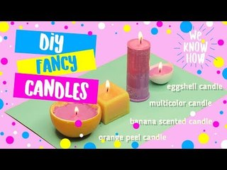 DIY Fancy candles - what to do when you're bored - how to make candles