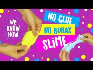 DIY NO glue, NO borax 2 ingredient easy slime recipe
