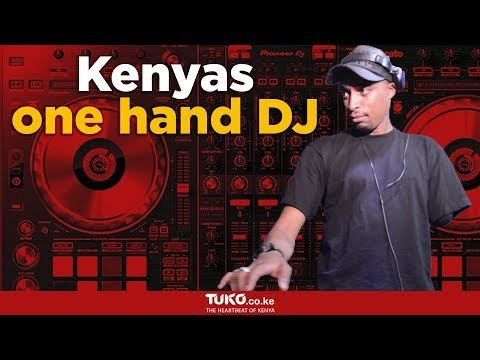 Meet Kenyas one hand DJ who lost his hand during post election violence