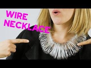 DIY Wire necklace - best Halloween ideas