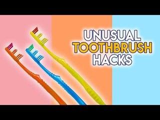 Unusual toothbrush hacks