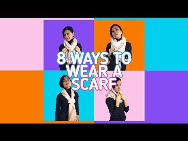 8 new ways to tie a scarf