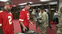 Kansas City Chiefs Players Surprise Re-Enlisting Service Members During Ceremony