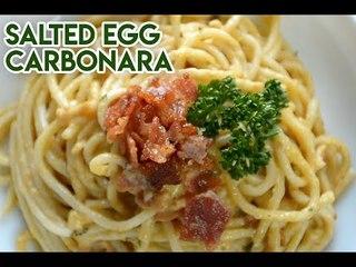 Creamy salted egg carbonara
