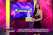Paolo Guerrero y Thaísa Leal desmienten ruptura con estos videos