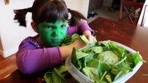 Bad Baby Hulk vs Spidergirl vs Green Goblin vs Venom & Hulk - Food Fight _ Real Life Superhero Movie | Superheroes | Spiderman | Superman | Frozen Elsa | Joker